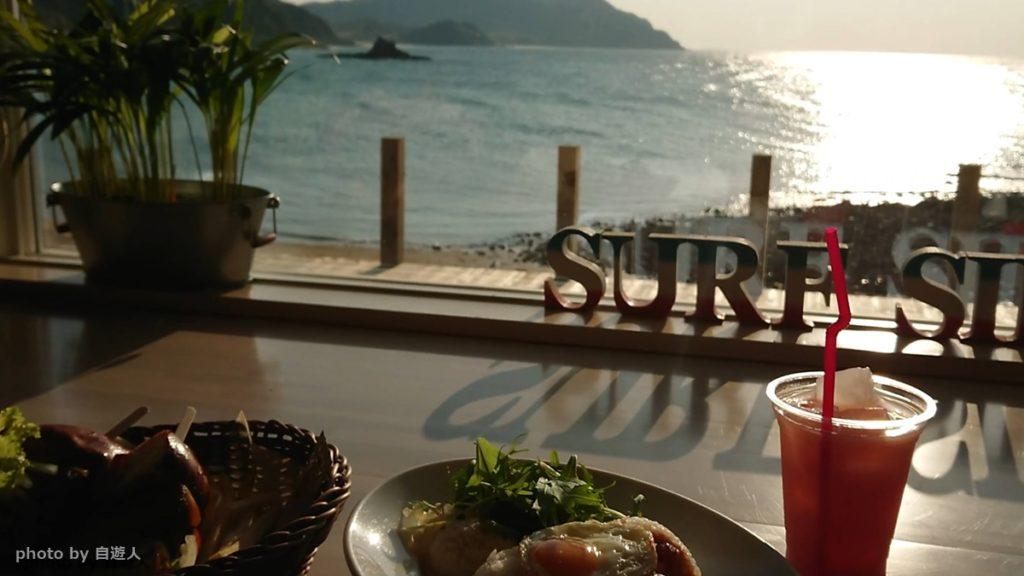 糸島のカフェから見える海