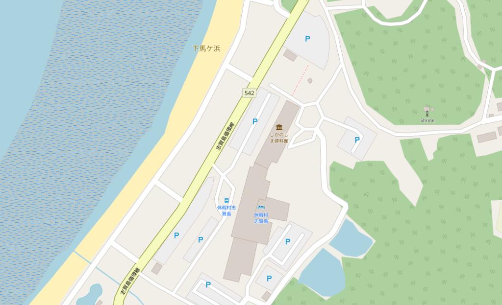 下馬ヶ浜海水浴場 駐車場地図