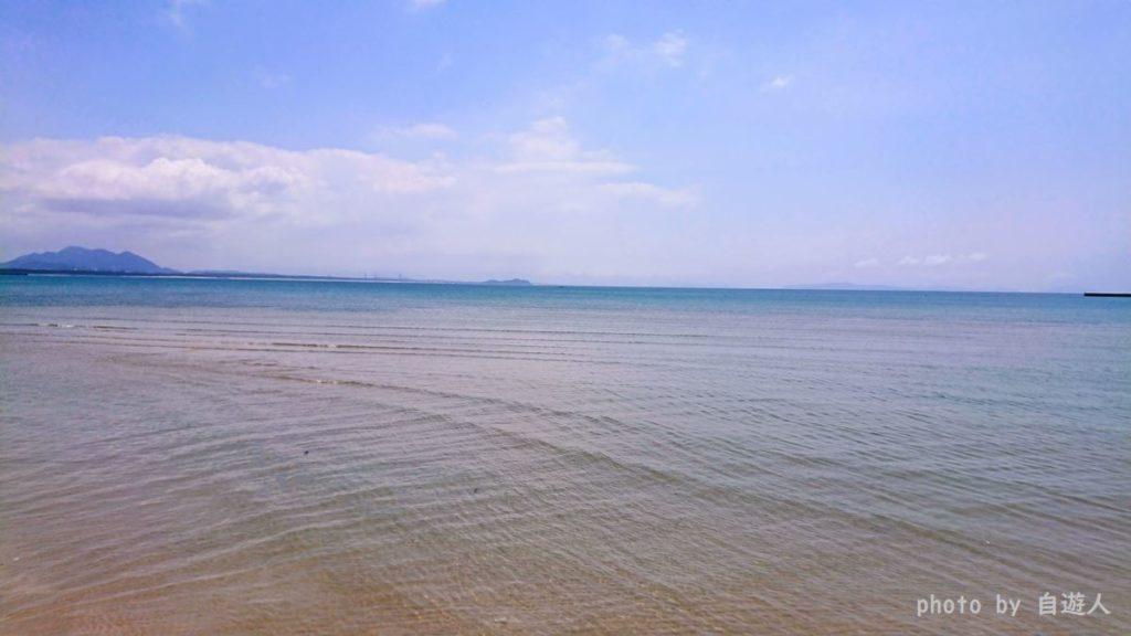 津屋崎海水浴場の海