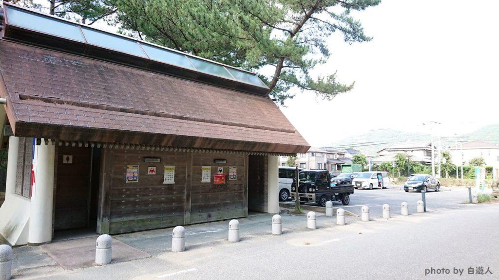 宮地浜海水浴場の無料駐車場の画像