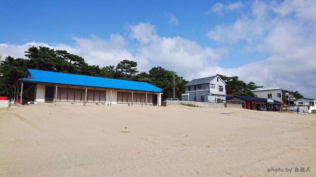 宮地浜海水浴場「海の家 大阪屋」