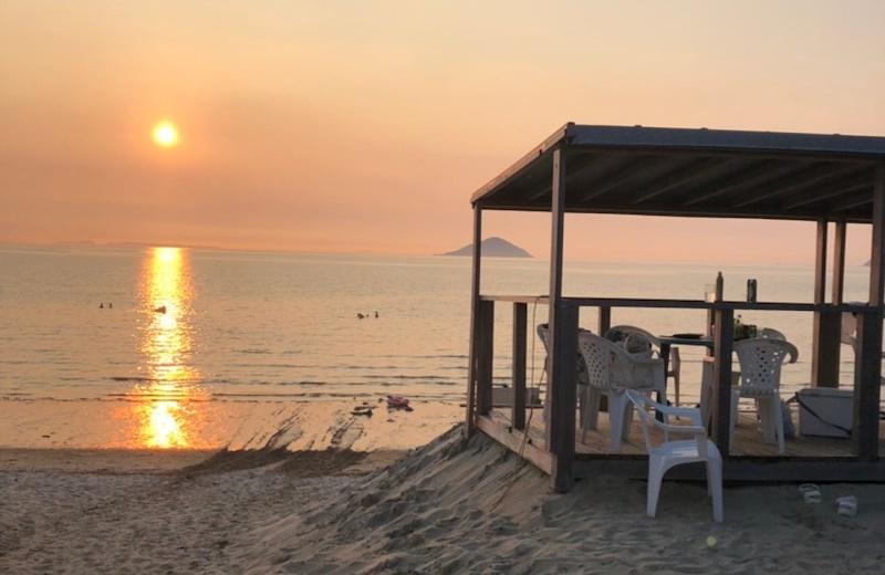 深江海水浴場 夕陽