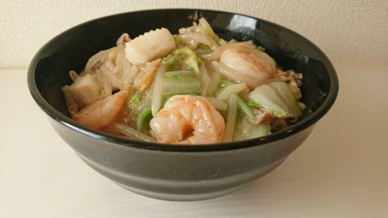 海鮮ウェイパーで海鮮中華丼を作っている画像4