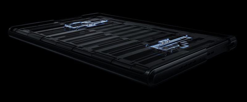 OPPO X 2021スマホの本体フレームが可動式になっているという内部構造の仕組み画像