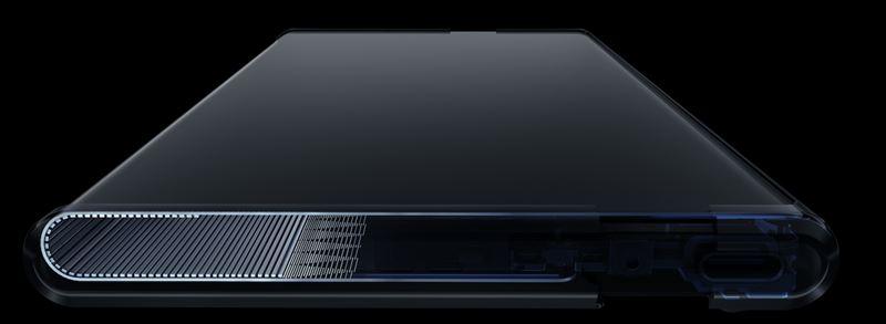 OPPO X 2021のスマホ画面が収縮するローラブルスライドパネルの仕組みと構造