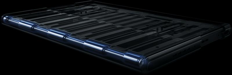 OPPO X 2021の伸び縮みするスクリーン画面の内部構造と仕組みがわかる画像