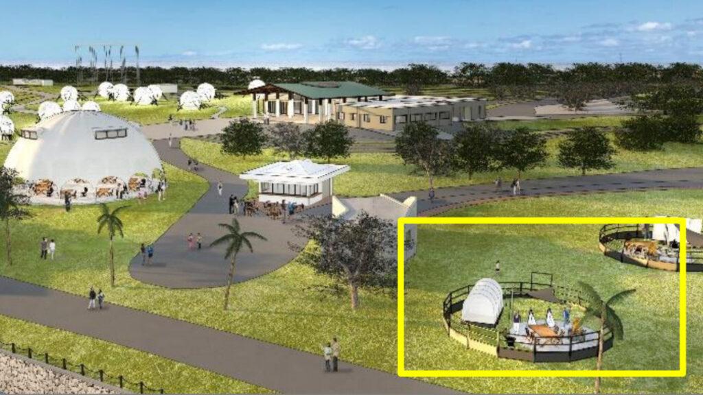 海の中道グランピング新施設「アウトドアリビング」