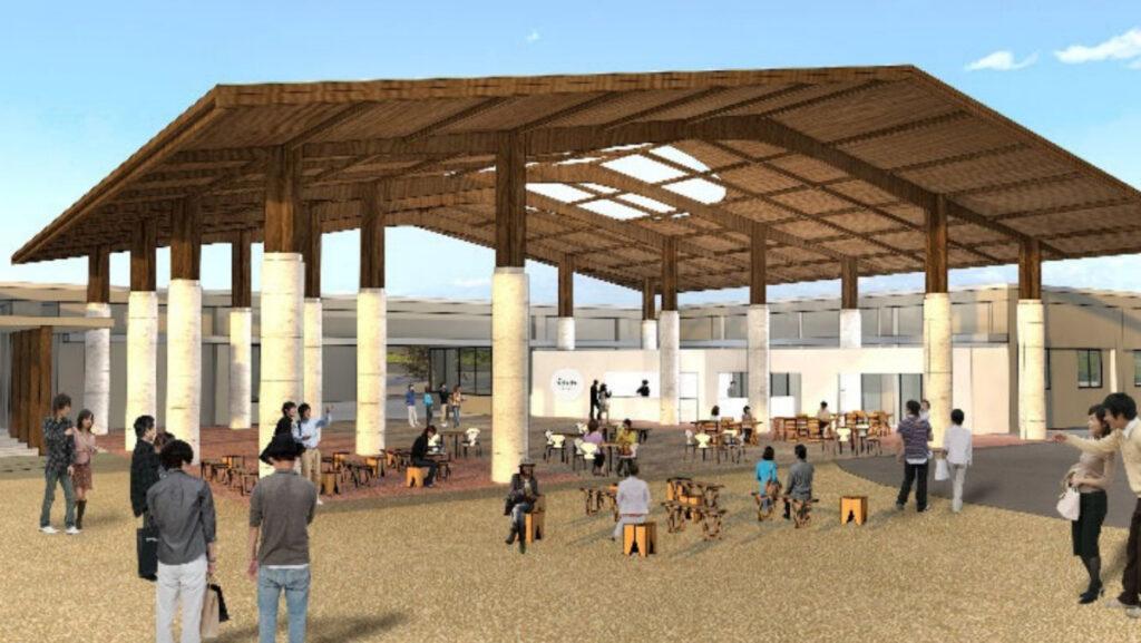 海の中道グランピング新施設「休憩施設」