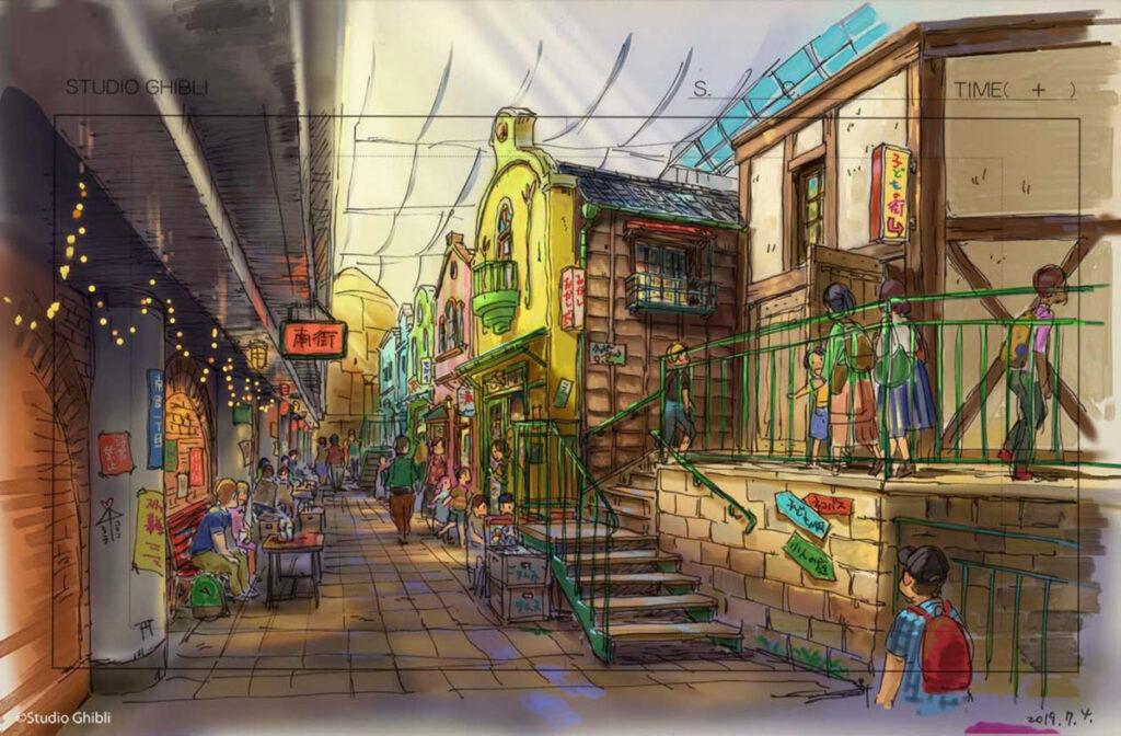 ジブリパーク ジブリの大倉庫エリア 千と千尋の食堂街