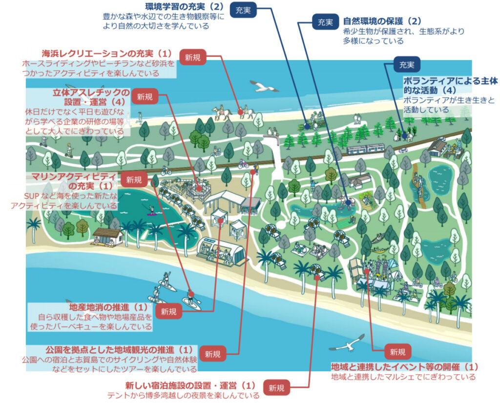 海の中道「グランピング施設」の全体予想配置図(完成予定図)